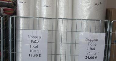 Noppenfolie rol 1m/10 12.90€