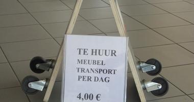 Meubeltransport 4.00€ (verhuur)